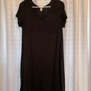 Women's Black T-shirt Dress